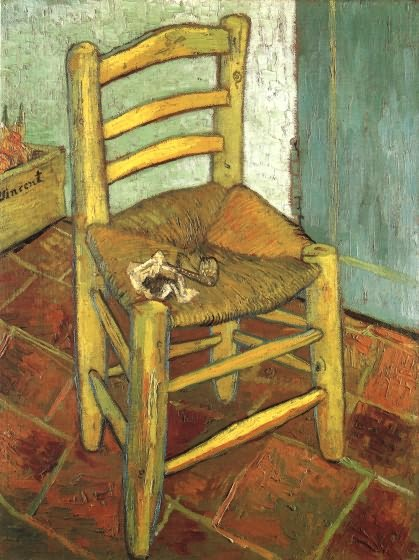 Van Gogh La Chaise Et La Pipe Technique Fond Referat