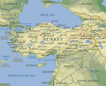 harta fizica turcia TURCIA referat harta fizica turcia